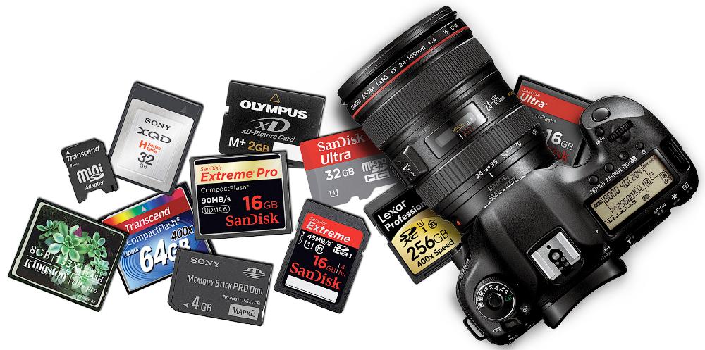 Data recovery camera memory card