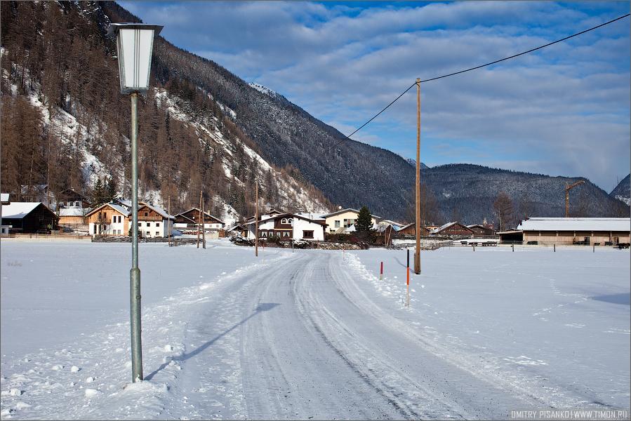 Австрия, Зельден 2009 - Горнолыжный отдых - Виды австрийской деревни