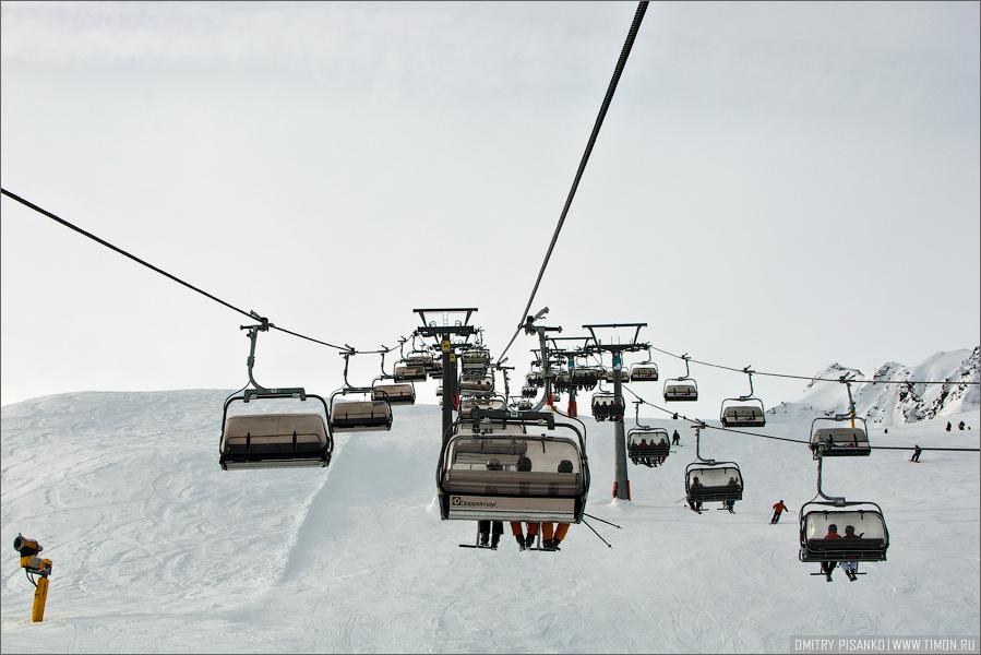 Австрия, Зельден 2009 - Горнолыжный отдых - Подъемники