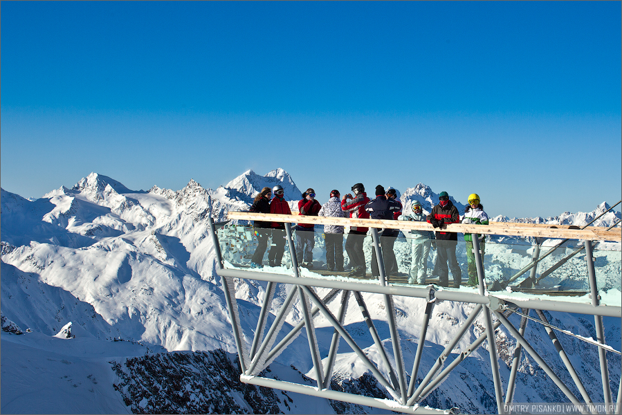 Австрия, Зельден 2009 - Горнолыжный отдых - Смотровая площадка